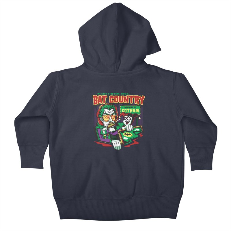 Bat Country (Harley) Kids Baby Zip-Up Hoody by harebrained's Artist Shop