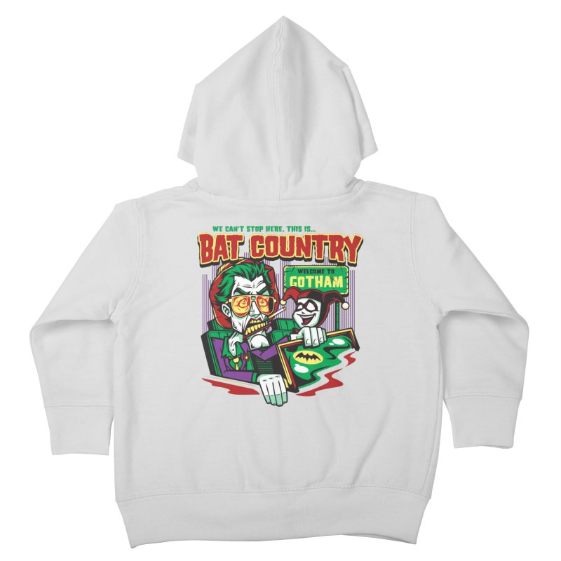 Bat Country (Harley) Kids Toddler Zip-Up Hoody by harebrained's Artist Shop