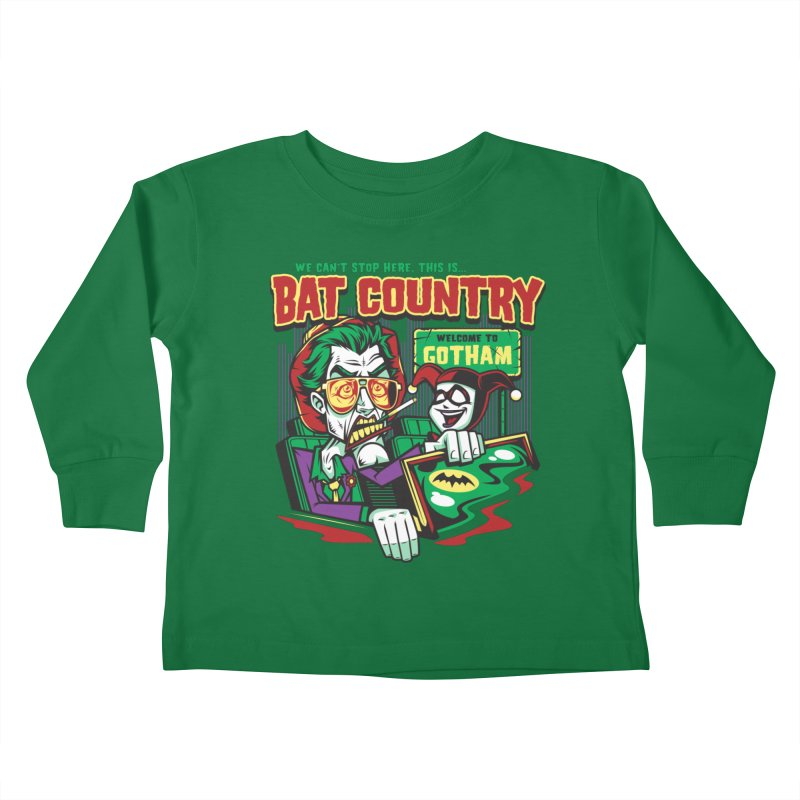 Bat Country (Harley) Kids Toddler Longsleeve T-Shirt by harebrained's Artist Shop