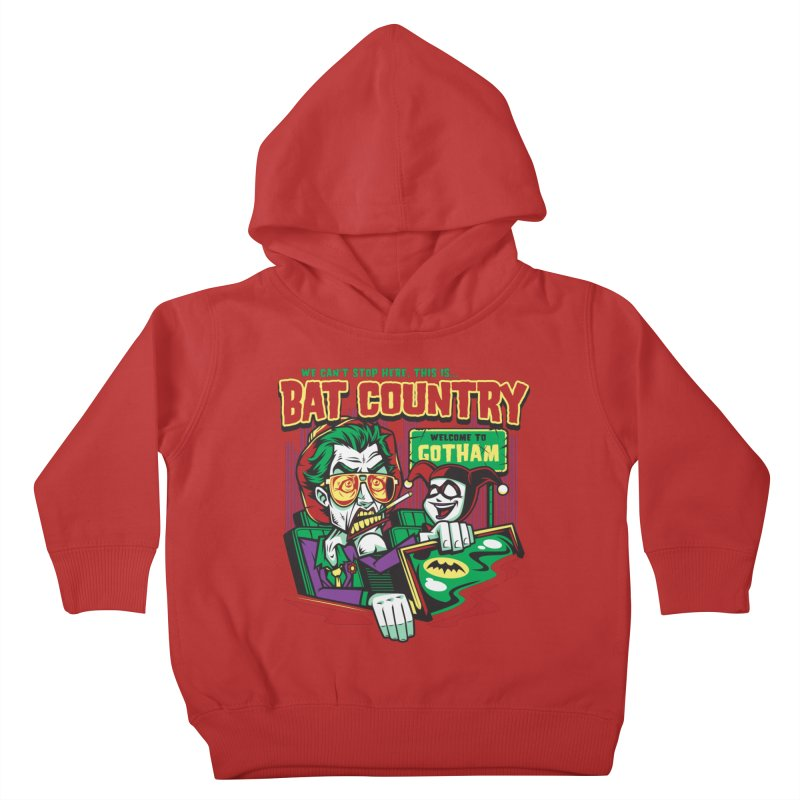 Bat Country (Harley) Kids Toddler Pullover Hoody by harebrained's Artist Shop