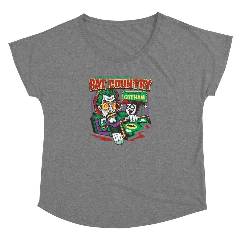 Bat Country (Harley) Women's Dolman Scoop Neck by harebrained's Artist Shop