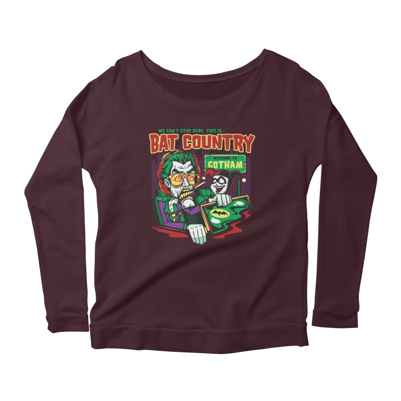 Bat Country (Harley) Women's Longsleeve Scoopneck  by harebrained's Artist Shop