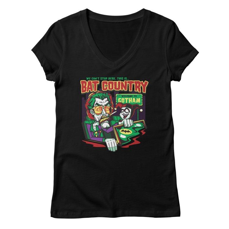 Bat Country (Harley) Women's Regular V-Neck by harebrained's Artist Shop