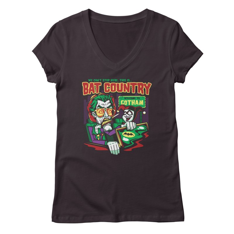 Bat Country (Harley) Women's V-Neck by harebrained's Artist Shop