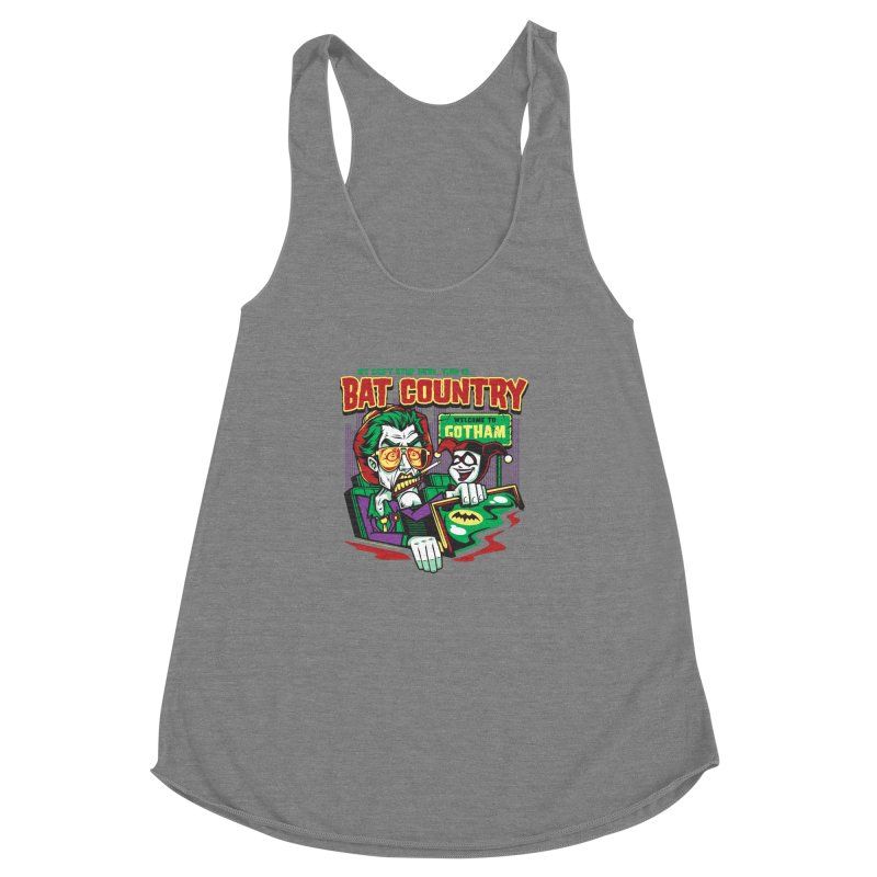Bat Country (Harley) Women's Racerback Triblend Tank by harebrained's Artist Shop