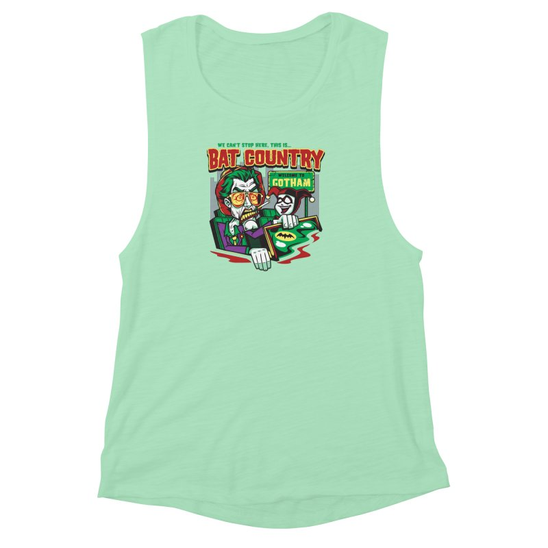 Bat Country (Harley) Women's Muscle Tank by harebrained's Artist Shop