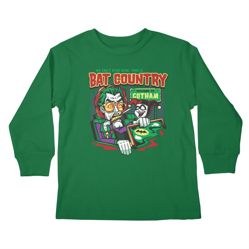 Bat Country (Harley) Kids Longsleeve T-Shirt by harebrained's Artist Shop