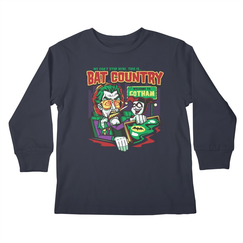 Bat Country (Harley) Kids Longsleeve T-Shirt by harebrained's Artist Shop