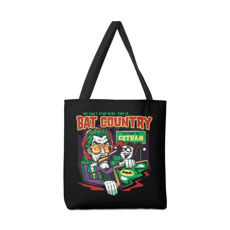 Bat Country (Harley) Accessories Bag by harebrained's Artist Shop