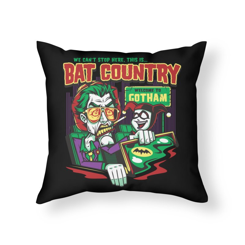 Bat Country (Harley) Home Throw Pillow by harebrained's Artist Shop