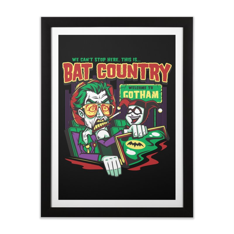 Bat Country (Harley) Home Framed Fine Art Print by harebrained's Artist Shop