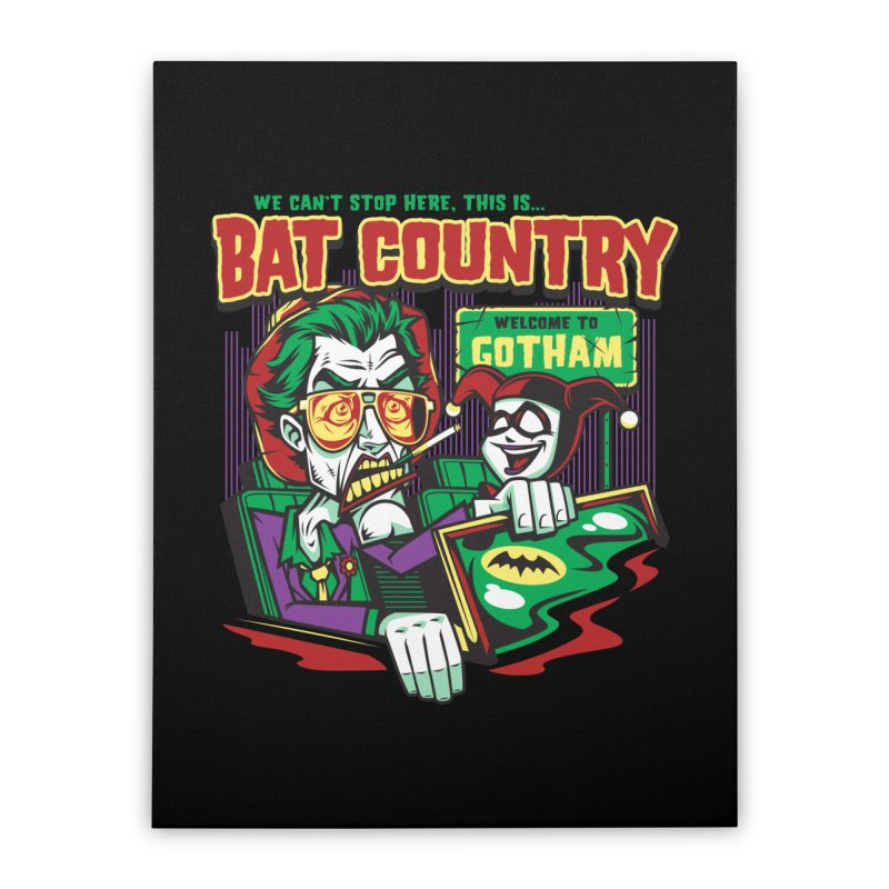 Bat Country (Harley) Home Stretched Canvas by harebrained's Artist Shop
