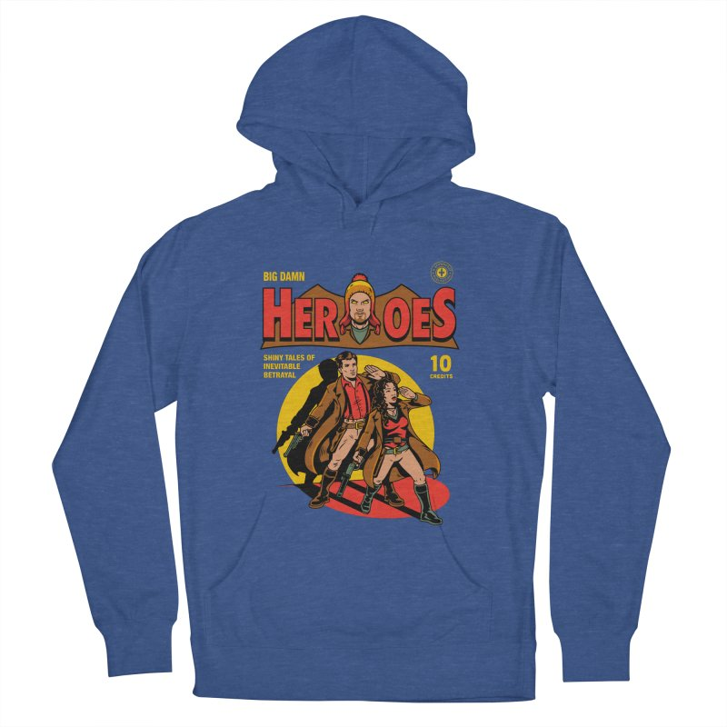 Big Damn Heroes Comic Women's French Terry Pullover Hoody by harebrained's Artist Shop