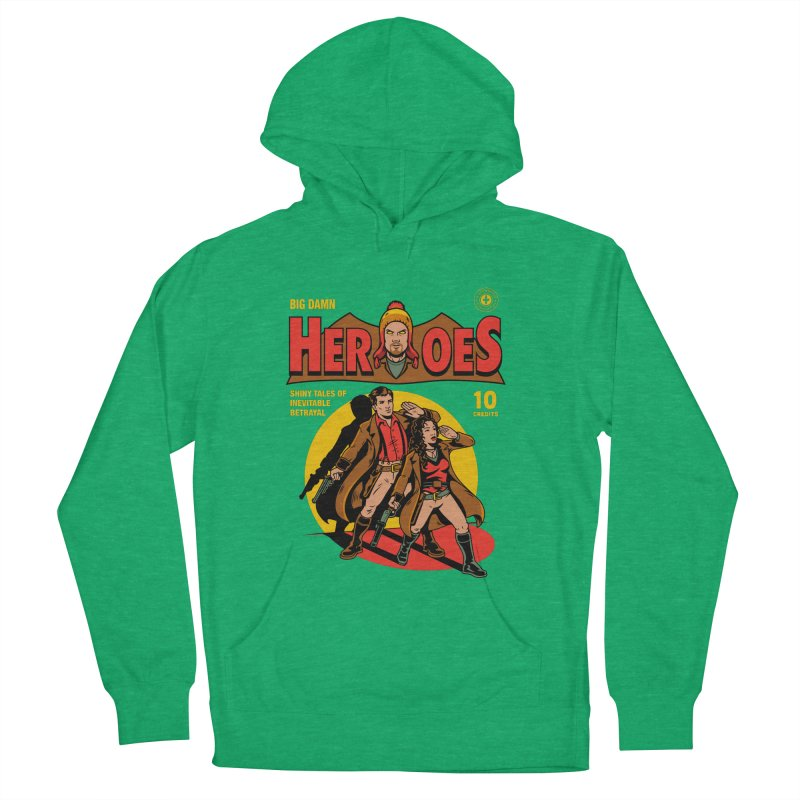 Big Damn Heroes Comic Men's French Terry Pullover Hoody by harebrained's Artist Shop
