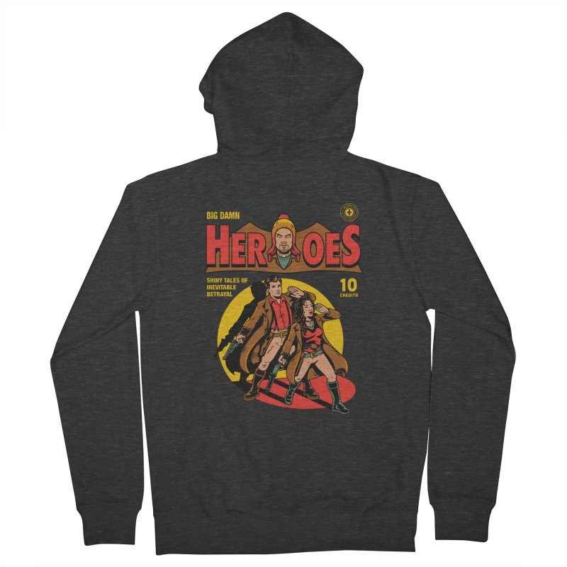Big Damn Heroes Comic Women's Zip-Up Hoody by harebrained's Artist Shop