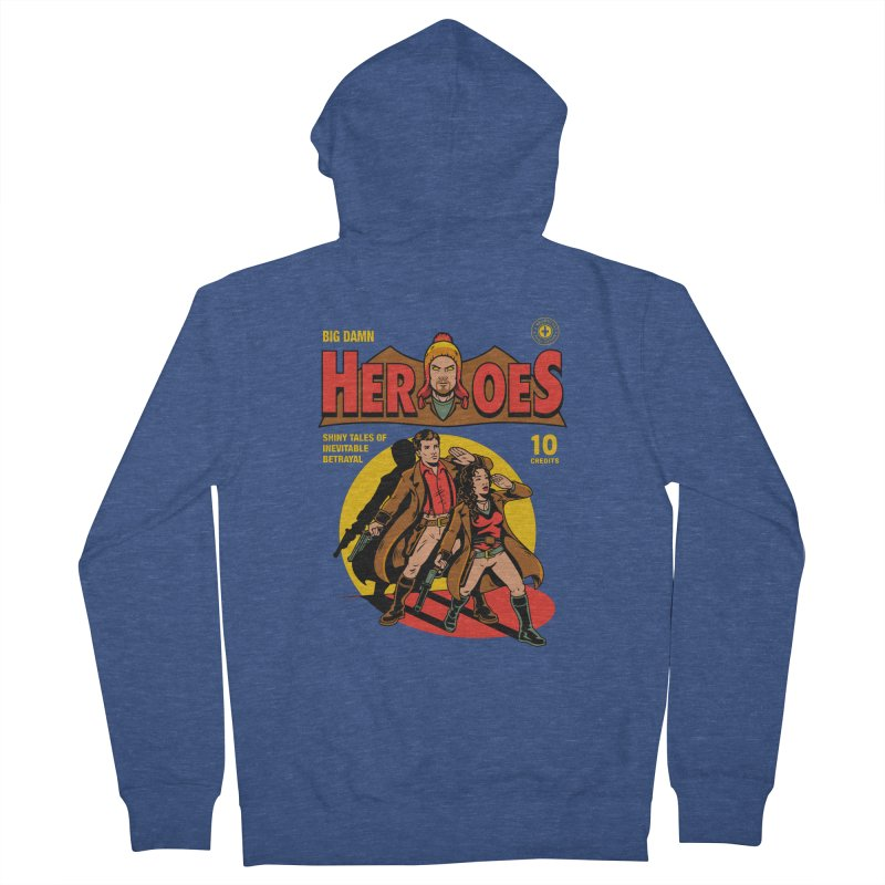 Big Damn Heroes Comic Women's Zip-Up Hoody by harebrained's Artist Shop