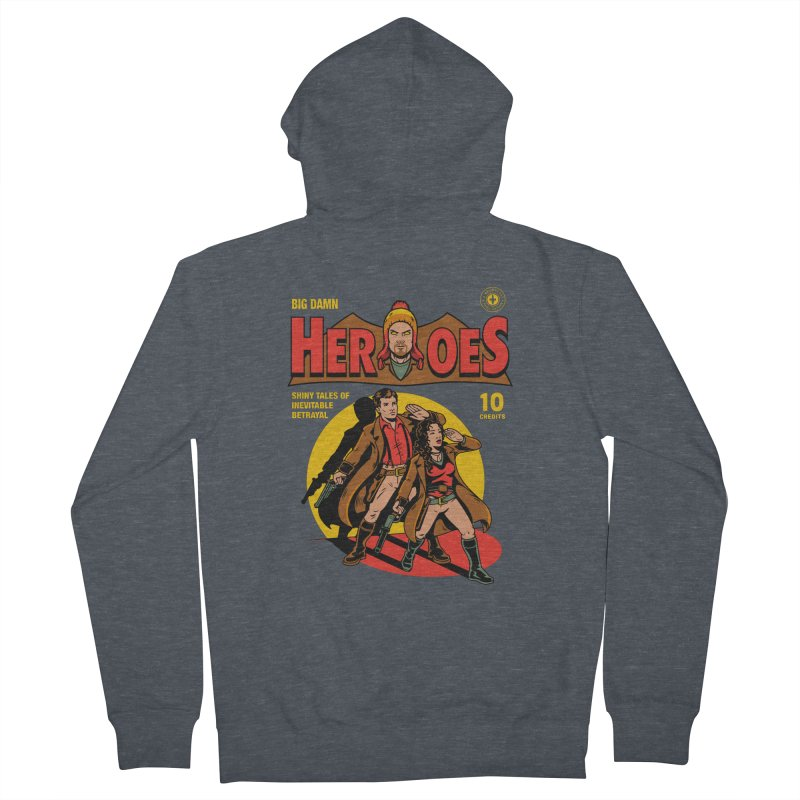 Big Damn Heroes Comic Women's French Terry Zip-Up Hoody by harebrained's Artist Shop