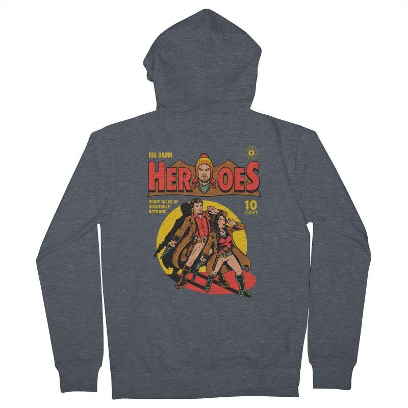 Big Damn Heroes Comic Men's Zip-Up Hoody by harebrained's Artist Shop
