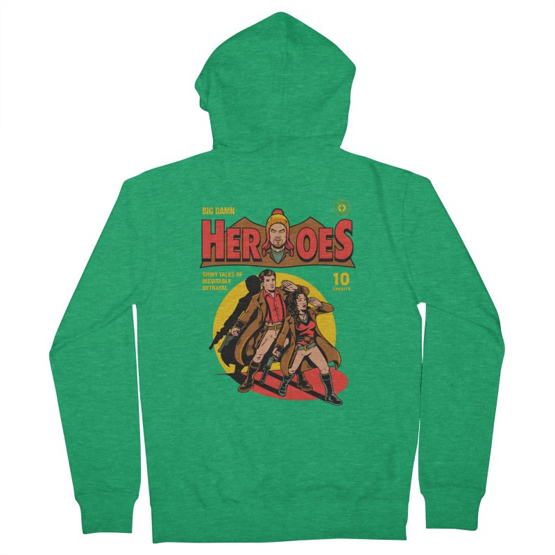 Big Damn Heroes Comic Men's French Terry Zip-Up Hoody by harebrained's Artist Shop