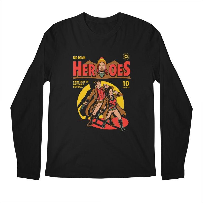 Big Damn Heroes Comic Men's Regular Longsleeve T-Shirt by harebrained's Artist Shop
