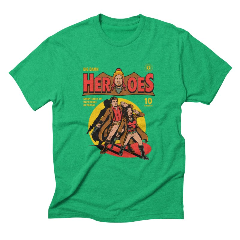 Big Damn Heroes Comic Men's Triblend T-Shirt by harebrained's Artist Shop