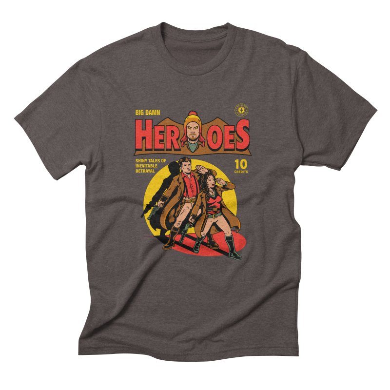 Big Damn Heroes Comic Men's Triblend T-Shirt by harebrained's Artist Shop