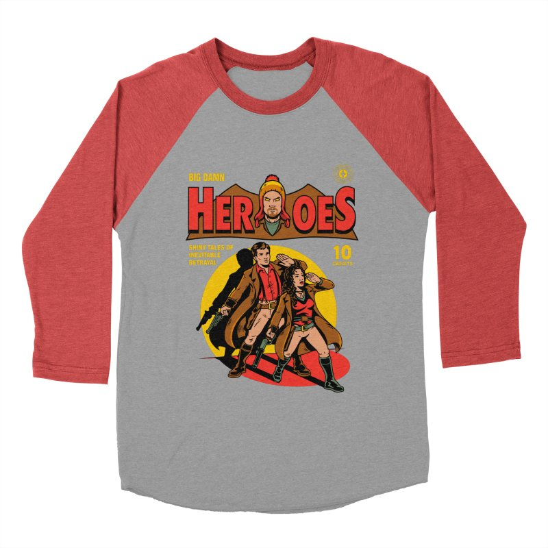 Big Damn Heroes Comic Women's Baseball Triblend T-Shirt by harebrained's Artist Shop