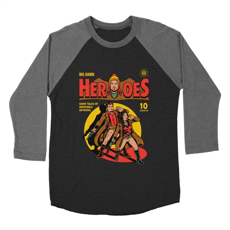 Big Damn Heroes Comic Men's Baseball Triblend T-Shirt by harebrained's Artist Shop