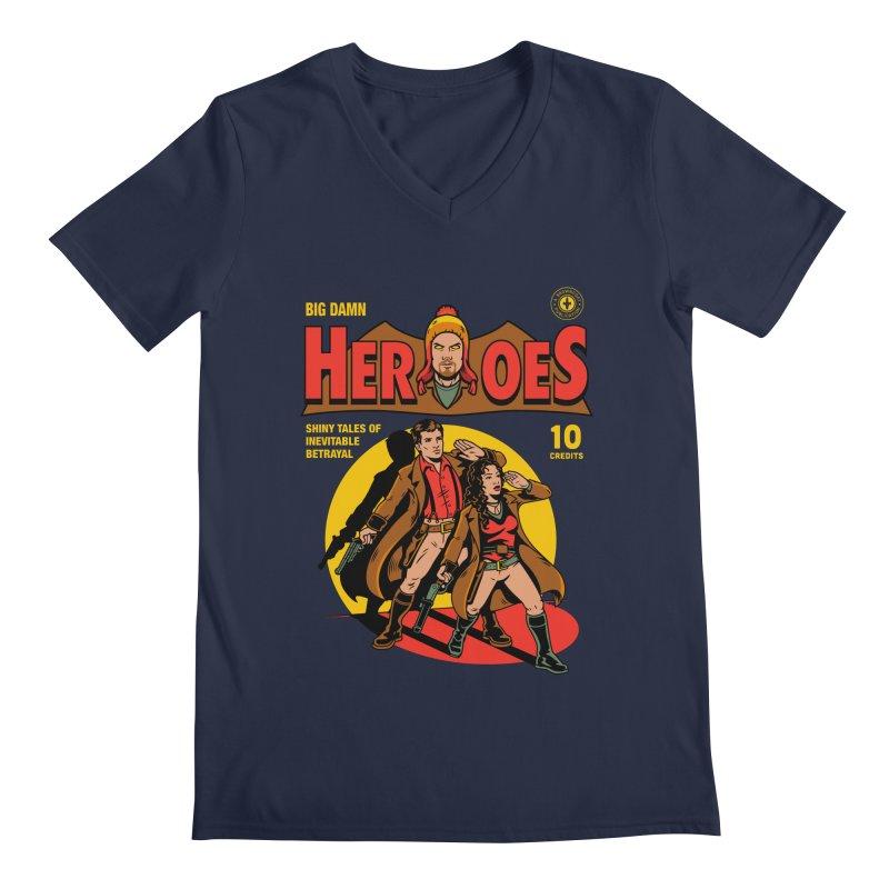 Big Damn Heroes Comic Men's Regular V-Neck by harebrained's Artist Shop