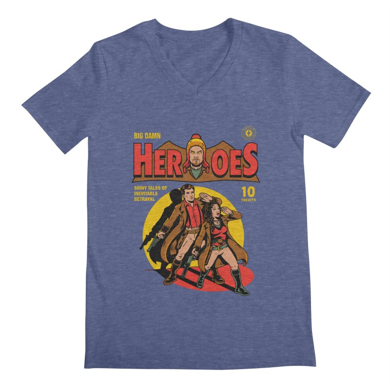 Big Damn Heroes Comic Men's Regular V-Neck by harebrained's Artist Shop