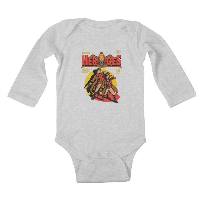 Big Damn Heroes Comic Kids Baby Longsleeve Bodysuit by harebrained's Artist Shop