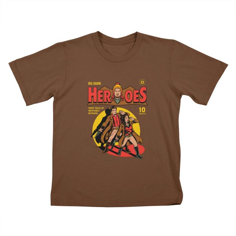 Big Damn Heroes Comic Kids T-Shirt by harebrained's Artist Shop