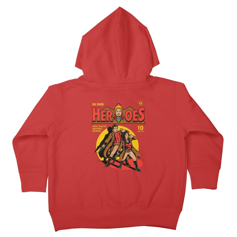 Big Damn Heroes Comic Kids Toddler Zip-Up Hoody by harebrained's Artist Shop