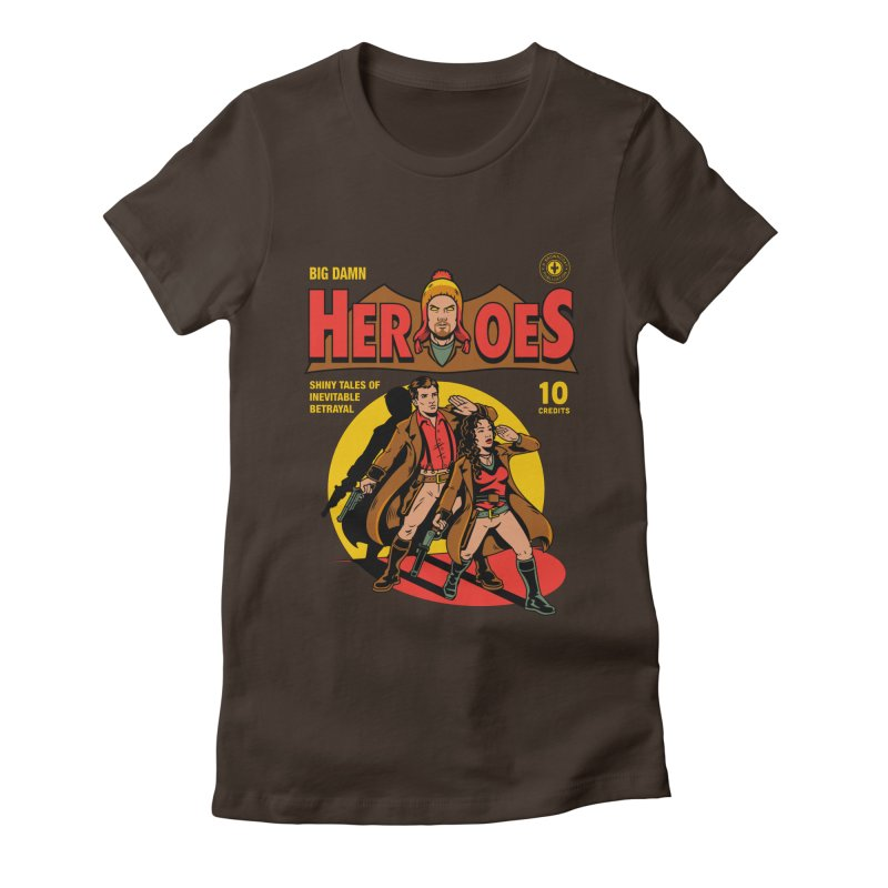 Big Damn Heroes Comic Women's Fitted T-Shirt by harebrained's Artist Shop