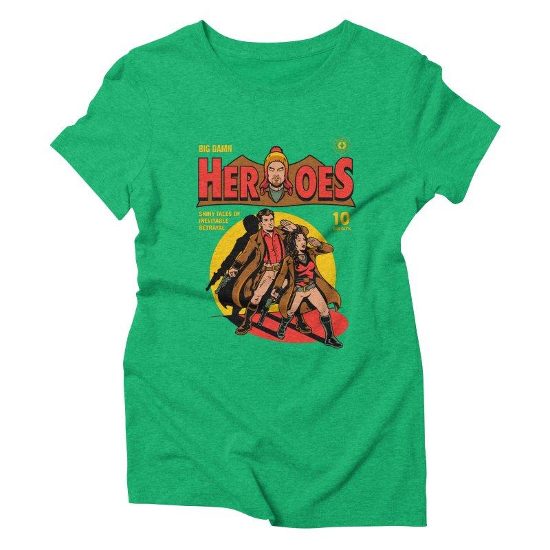 Big Damn Heroes Comic Women's Triblend T-Shirt by harebrained's Artist Shop