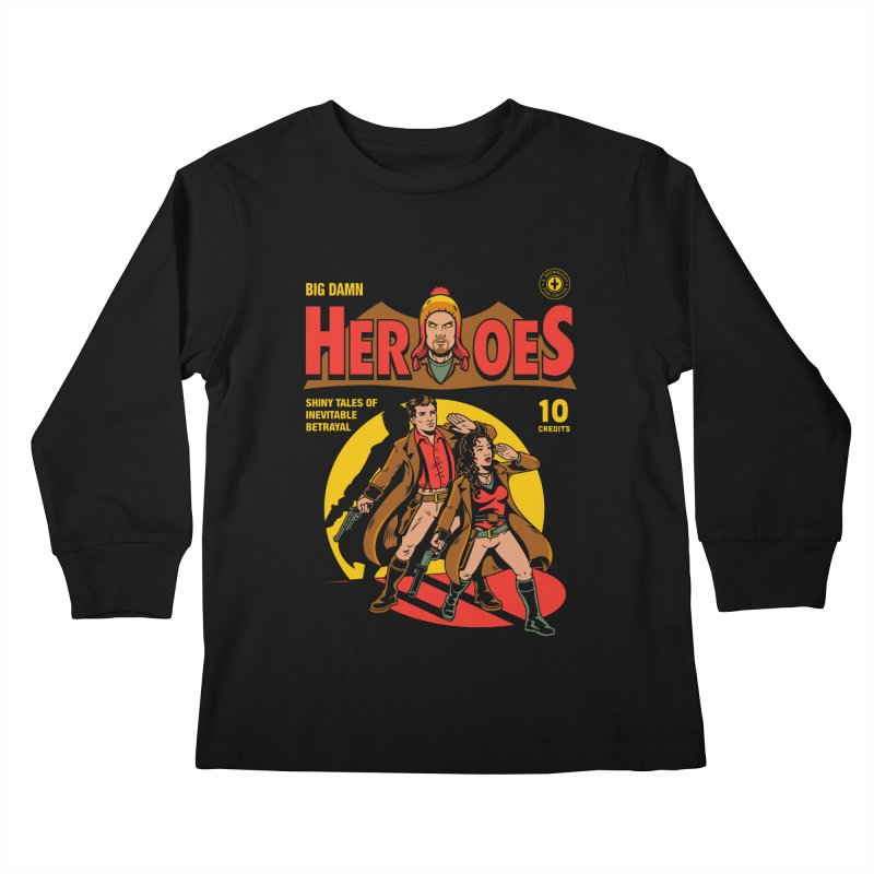 Big Damn Heroes Comic Kids Longsleeve T-Shirt by harebrained's Artist Shop