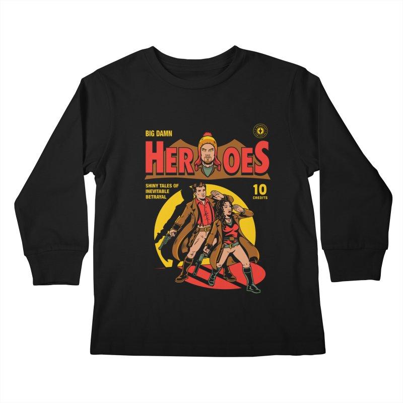 Big Damn Heroes Comic Kids Longsleeve T-Shirt by harebrained's Artist Shop