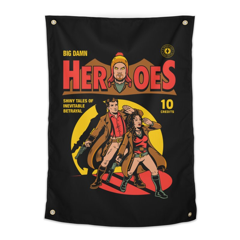 Big Damn Heroes Comic Home Tapestry by harebrained's Artist Shop