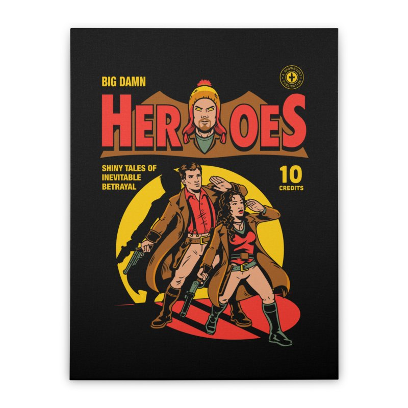 Big Damn Heroes Comic Home Stretched Canvas by harebrained's Artist Shop