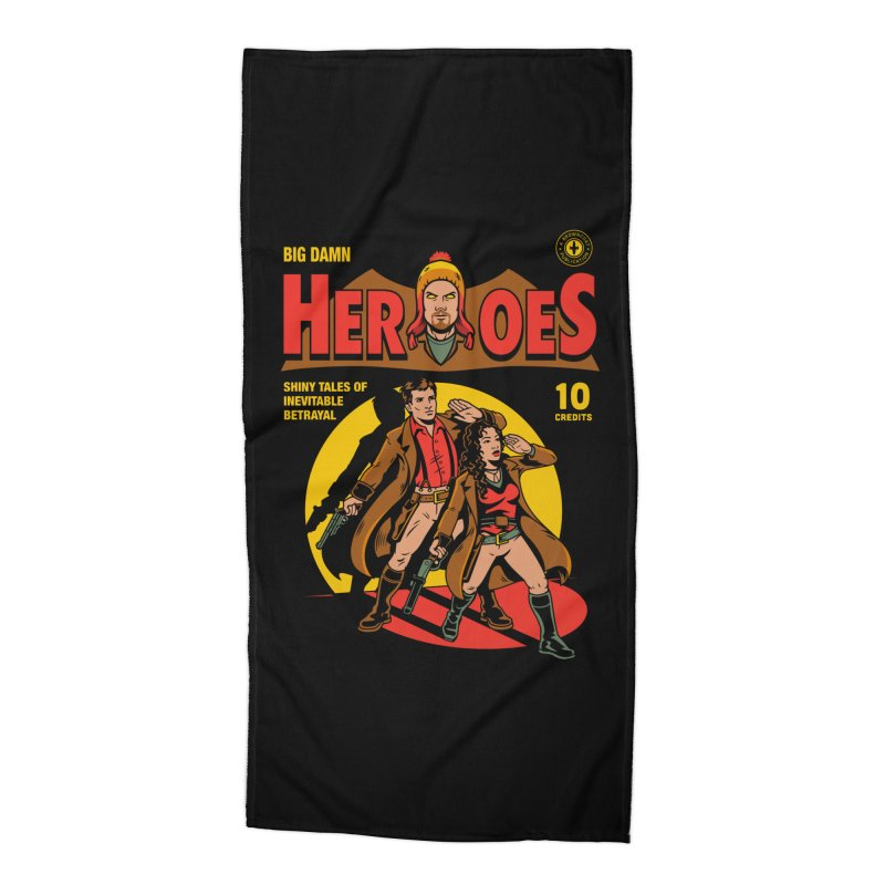 Big Damn Heroes Comic Accessories Beach Towel by harebrained's Artist Shop