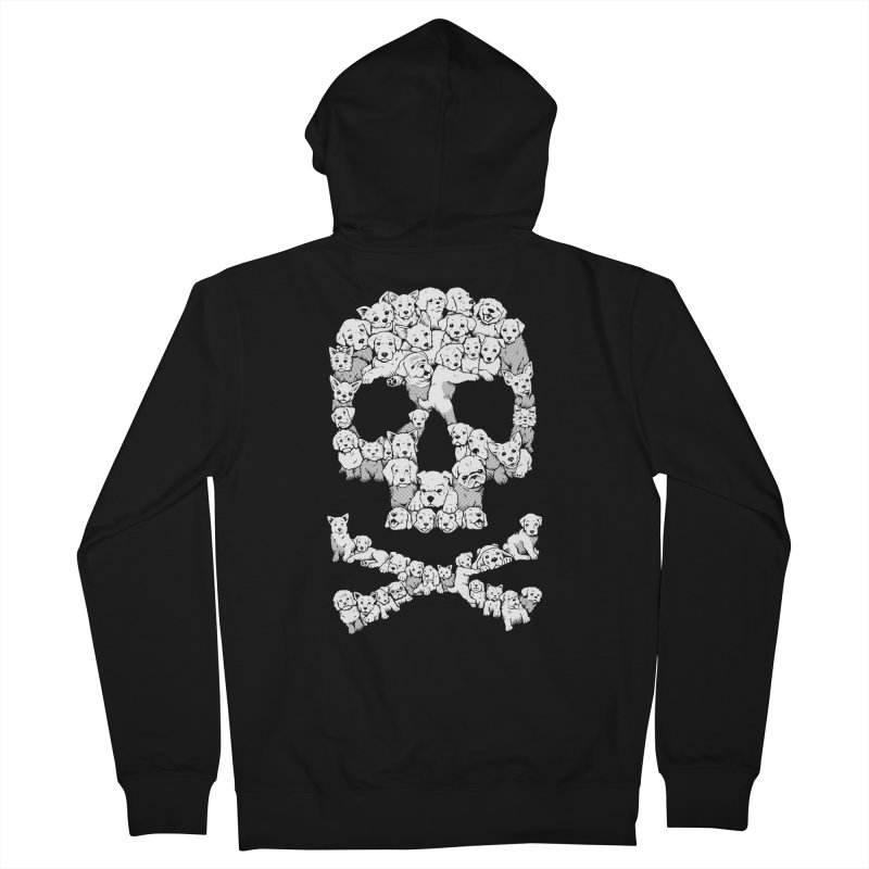 Pawsitively Bitchin Men's French Terry Zip-Up Hoody by harebrained's Artist Shop