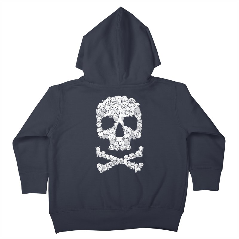 Pawsitively Bitchin Kids Toddler Zip-Up Hoody by harebrained's Artist Shop
