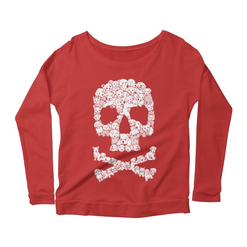 Pawsitively Bitchin Women's Scoop Neck Longsleeve T-Shirt by harebrained's Artist Shop