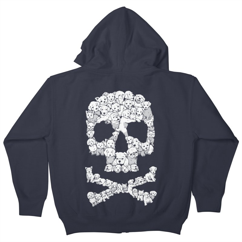 Pawsitively Bitchin Kids Zip-Up Hoody by harebrained's Artist Shop