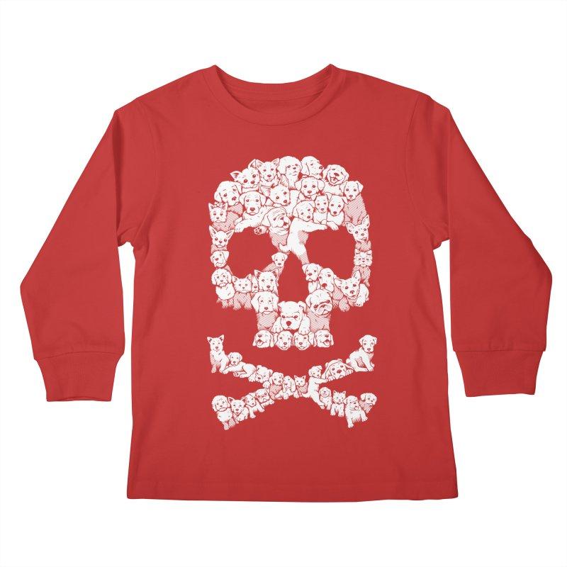 Pawsitively Bitchin Kids Longsleeve T-Shirt by harebrained's Artist Shop