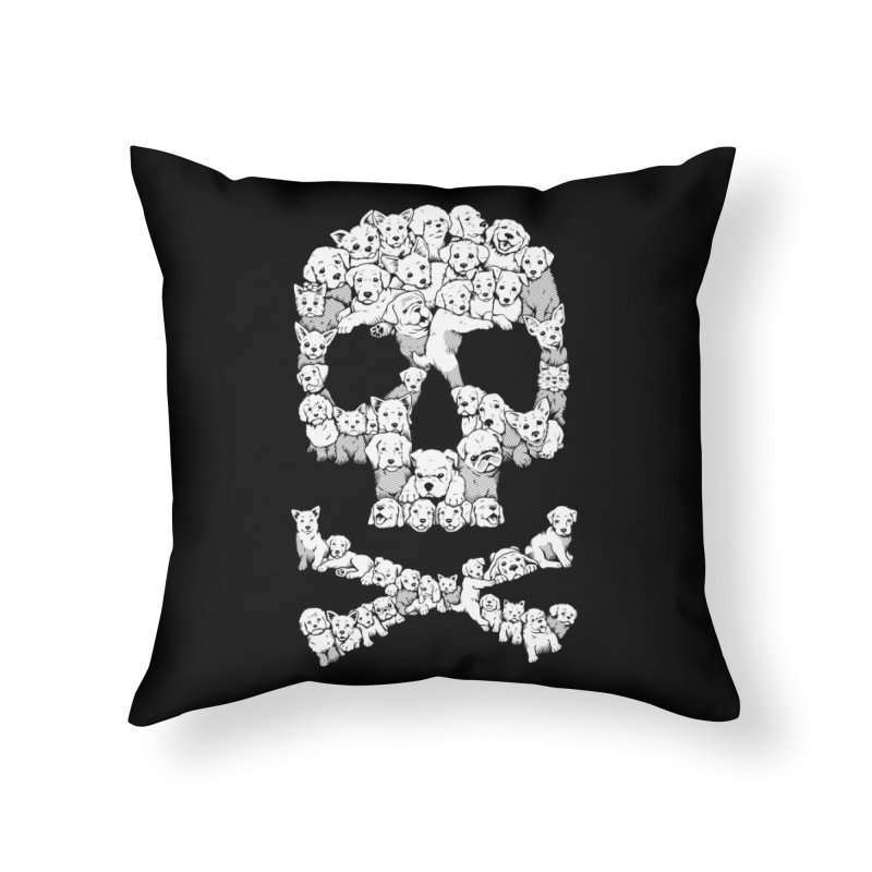 Pawsitively Bitchin Home Throw Pillow by harebrained's Artist Shop