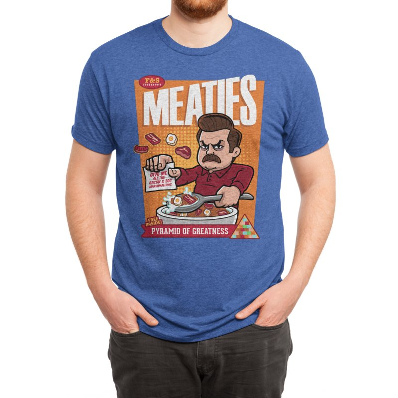Meaties Cereal Men's T-Shirt by harebrained's Artist Shop