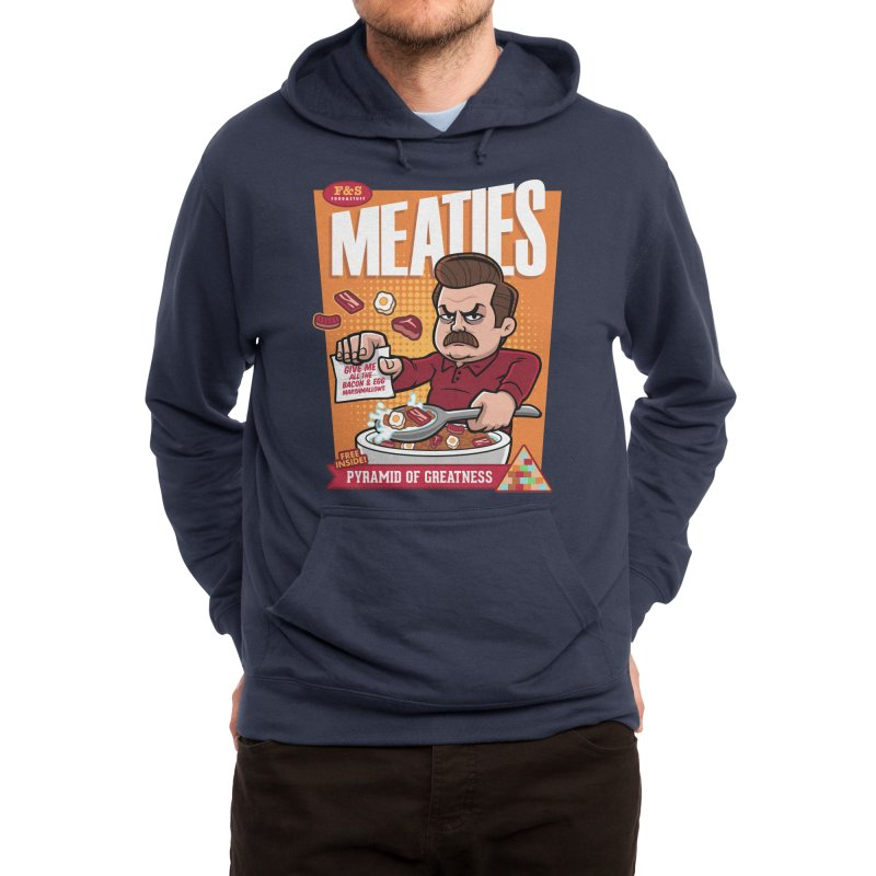 Meaties Cereal Men's Pullover Hoody by harebrained's Artist Shop