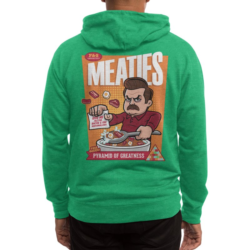 Meaties Cereal Men's Zip-Up Hoody by harebrained's Artist Shop