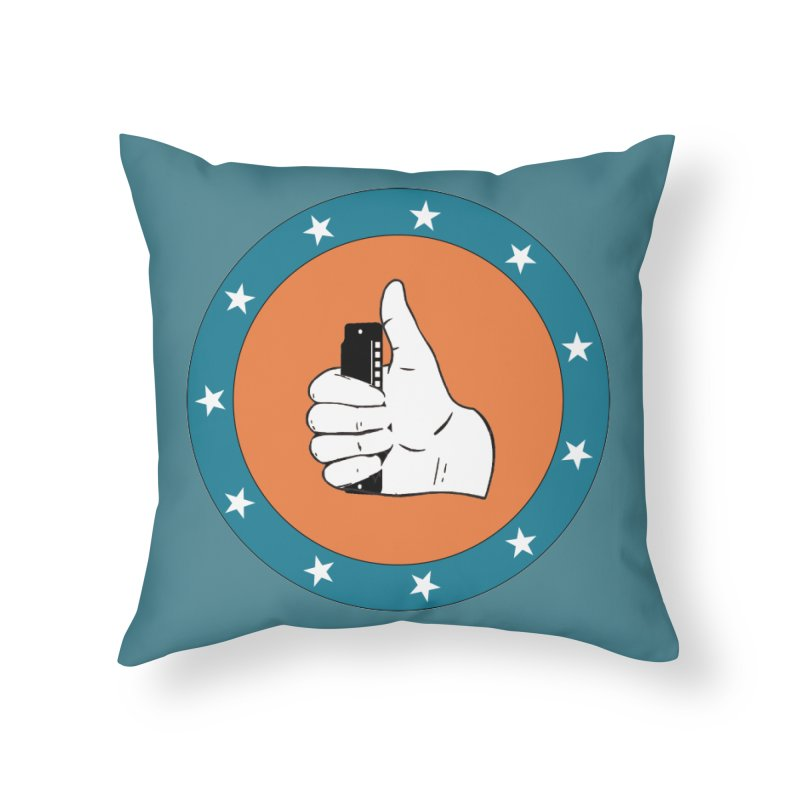 Thumb Up Home Throw Pillow by Harmonica's Shop